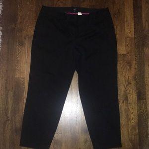 J.Crew Stretch CityFit Cropped Pants in Black 12